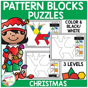 Pattern Block Puzzles: Christmas ~Digital Download~