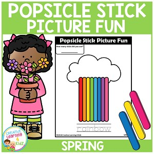 Popsicle Stick Picture Fun - Spring ~Digital Download