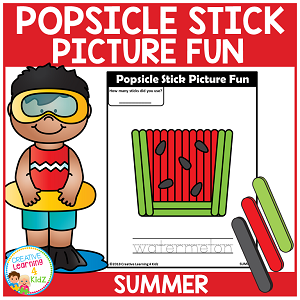 Popsicle Stick Picture Fun - Summer ~Digital Download~
