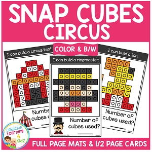 Snap Cubes Activity - Circus ~Digital Download~