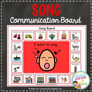Song Communication Board Digital Download