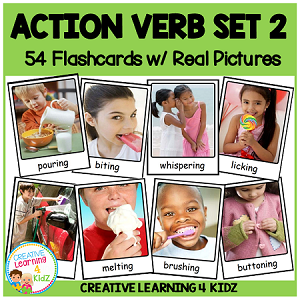 Action Verb Cards Set 2 ~Digital Download~