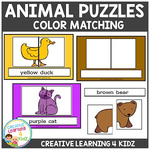 Animal Color Matching Puzzles ~Digital Download~