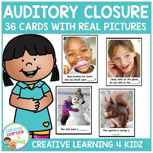 Auditory Closure Cards ~Digital Download~