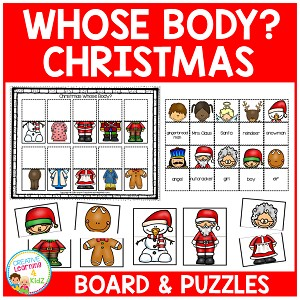 Christmas Whose Body? Board + Puzzle cards ~Digital Download~