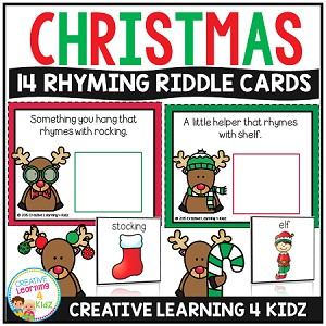 Christmas Rhyming Riddle Cards ~Digital Download~