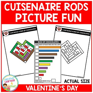 Cuisenaire Rods Picture Fun: Valentine's Day ~Digital Download~