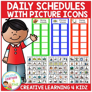 Daily Schedules w/ Picture Icons ~Digital Download~
