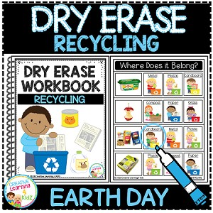 Dry Erase Workbook: Recycling Earth Day ~Digital Download~