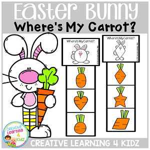 Easter Bunny Where's My Carrot? Clip Cards ~Digital Download~