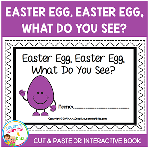 Easter Egg, Easter Egg, What Do You See? Color Cut & Paste Book ~Digital Download~
