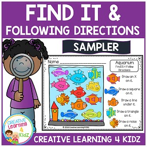 Find It & Following Directions Sampler ~Digital Download~