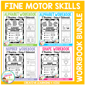 Fine Motor Skills Activity Workbook Bundle ~Digital Download~