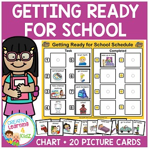 Getting Ready for School Schedule ~Digital Download~