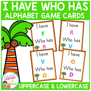Alphabet I Have Who Has Game ~Digital Download~