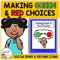 Social Story Making Green & Red Choices Book + Picture Icons ~Digital Download~