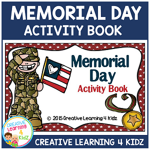 Memorial Day Activity Cut & Paste Book ~Digital Download~