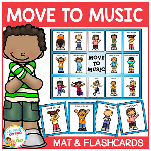 Actions Move to Music Board + Flashcards  ~Digital Download~