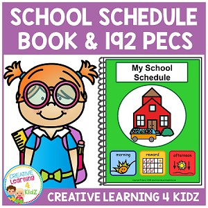 School Schedule Book w/192 PECS ~ Digital Download~