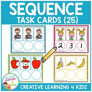Sequencing Task Cards ~Digital Download~