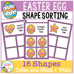 Shape Sorting Mats: Easter Egg ~Digital Download~