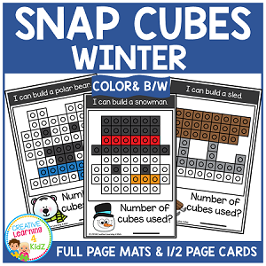 Snap Cubes Activity - Winter ~Digital Download~