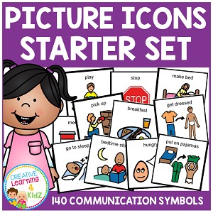 Picture Icons Schedule Cards Starter Set ~Digital Download~