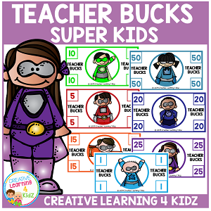 Teacher Behavior Bucks ~Digital Download~