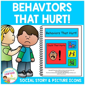 Social Story Behaviors That Hurt! ~Digital Download~