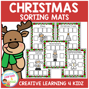 Christmas Sorting Mats ~Digital Download~
