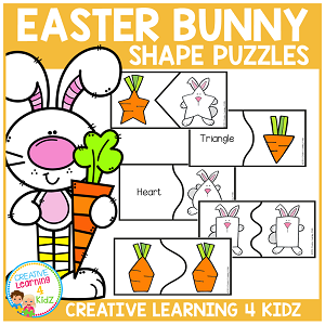 Easter Bunny Shape Puzzles ~Digital Download~