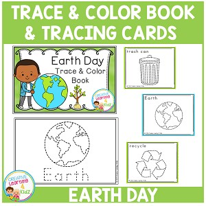 EARTH DAY Trace & Color Book + Tracing Cards Fine Motor Skills ~Digital Download~