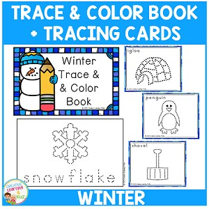 Trace & Color Winter Book + Tracing Cards ~Digital Download~