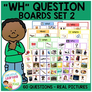 WH Question Boards Set 2 ~Digital Download~