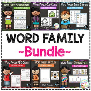 Word Family Bundle ~DIgital Download~